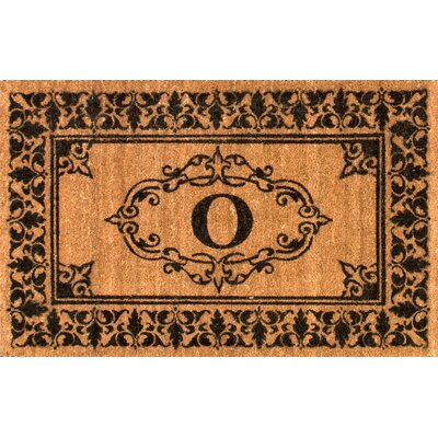 Llewellyn Letter Doormat Rug Size: 3' x 6', Letter: O