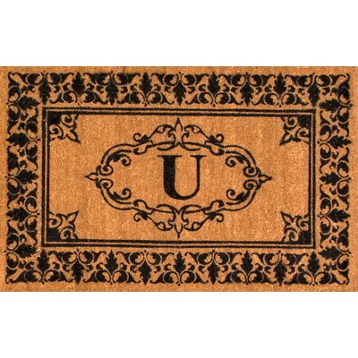 Awilda Letter Doormat Mat Size: 26 x 4, Letter: U