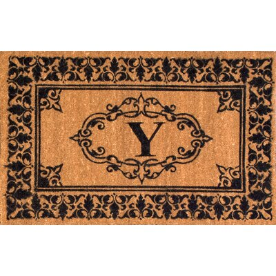 Llewellyn Letter Doormat Rug Size: 3 x 6, Letter: Y
