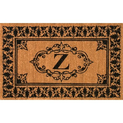 Llewellyn Letter Doormat Rug Size: 3' x 6', Letter: Z