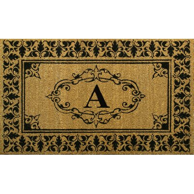 Awilda Letter Doormat Rug Size: 3 x 6, Letter: A