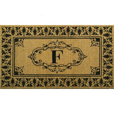 Awilda Letter Doormat Mat Size: 3 x 6, Letter: F