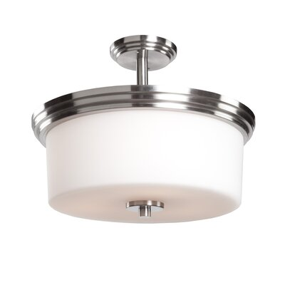 Gerald 3-Light Flush Mount Finish: Polished Nickel