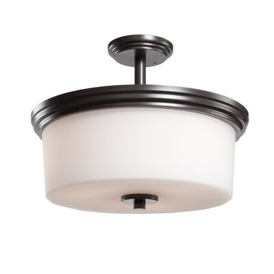 Gerald 3-Light Flush Mount Finish: Oil Bronze