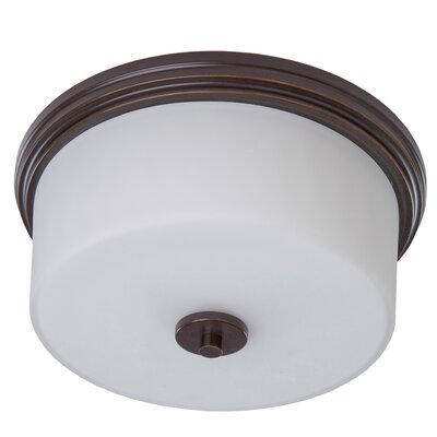 Gerald 2-Light Flush Mount Finish: Oil Bronze