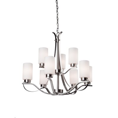 Gerald 9-Light Shaded Chandelier Finish: Polished Nickel