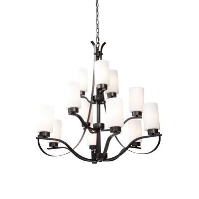 Gerald 12-Light Shaded Chandelier Finish: Oil Bronze