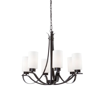 Gerald 5-Light Shaded Chandelier Finish: Oil Bronze