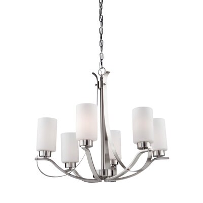 Gerald 5-Light Shaded Chandelier Finish: Polished Nickel