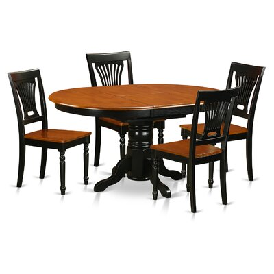 Attamore 5 Piece Dining Set Finish: Black