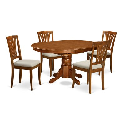 Attamore 5 Piece Dining Set Finish: Saddle Brown