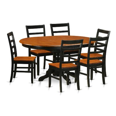Attamore 5 Piece Dining Set Finish: Black / Cherry