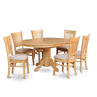 Attamore 7 Piece Dining Set Chair Upholstery: Microfiber