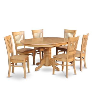 Attamore 7 Piece Dining Set Chair Upholstery: Non-Upholstered Wood