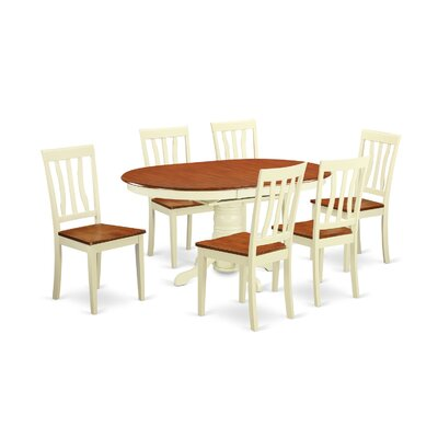Attamore 7 Piece Dining Set Finish: Off-White