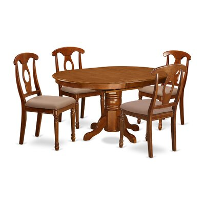 Attamore 5 Piece Dining Set Chair Upholstery: Microfiber