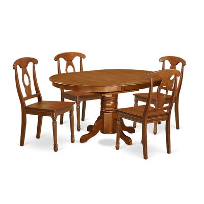 Attamore 5 Piece Dining Set Chair Upholstery: Non-Upholstered Wood