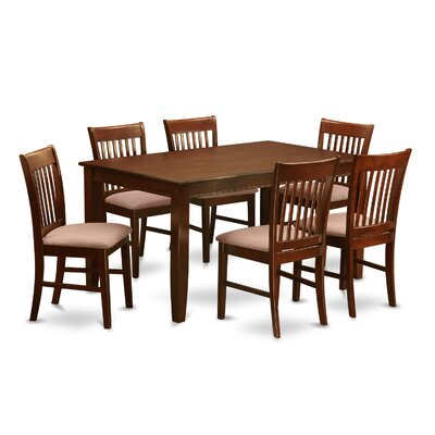 Newsome 7 Piece Dining Set Chair Upholstery: Microfiber
