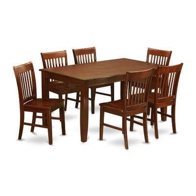Newsome 7 Piece Dining Set Chair Upholstery: Non-Upholstered Wood