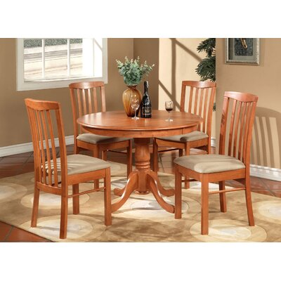 Bonenfant 5 Piece Dining Set Finish: Light Cherry, Chair Upholstery: Microfiber