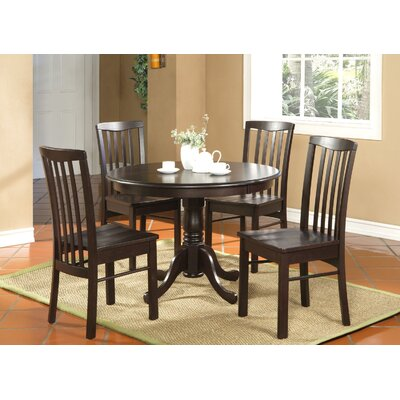 Bonenfant 5 Piece Dining Set Finish: Cappuccino, Chair Upholstery: Non-Upholstered Wood