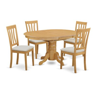 Attamore 5 Piece Dining Set Finish: Oak