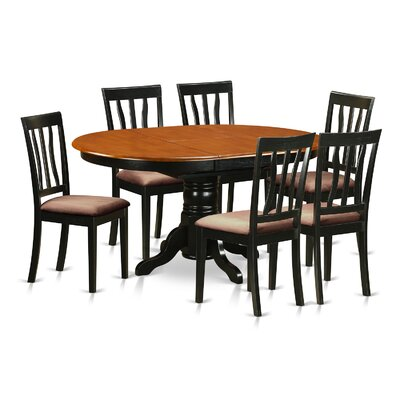 Attamore 7 Piece Dining Set Finish: Black