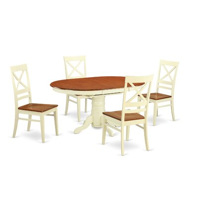 Attamore 5 Piece Dining Set Finish: Buttermilk