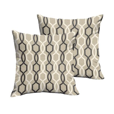 Bank Indoor/Outdoor Throw Pillow Size: 22 H x 22 W x 6 D