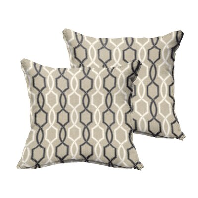 Bank Indoor/Outdoor Throw Pillow Size: 18 H x 18 W x 6 D