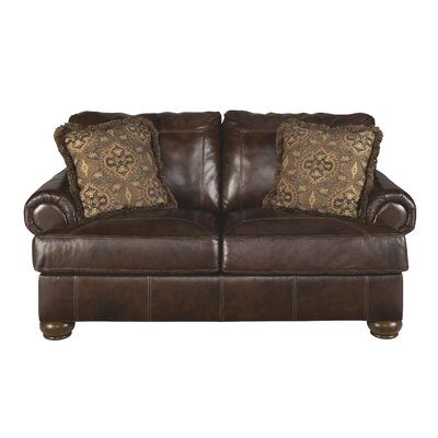 Darby Home Co DBYH4268 Bannister Leather Loveseat