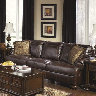 Darby Home Co DBYH4269 Bannister Leather Sofa