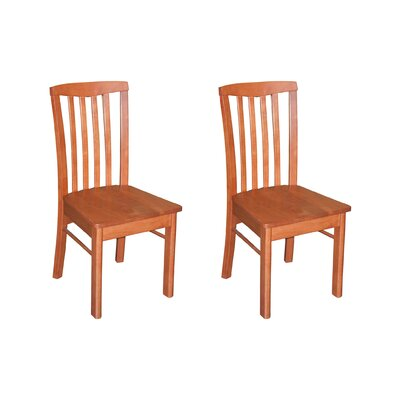 Bonenfant Side Chair in Wood Seat (Set of 2) Finish: Cappuccino