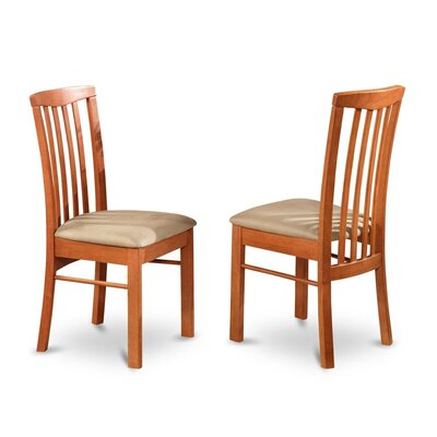 Bonenfant Side Chair in Wood Seat (Set of 2) Color: Light Cherry