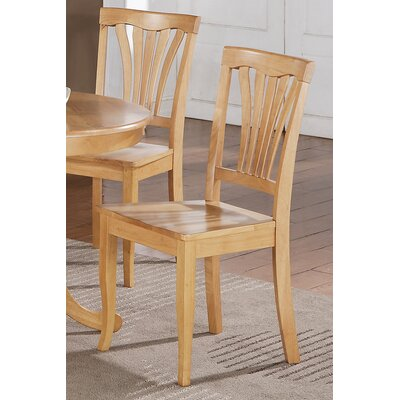 Attamore Solid Wood Dining Chair (Set of 2) Finish: Oak