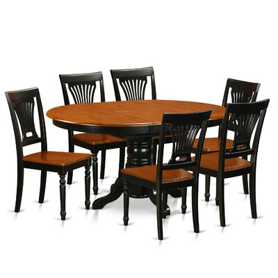 Attamore 7 Piece Dining Set Finish: Black / Cherry