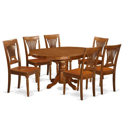 Attamore 7 Piece Dining Set Finish: Saddle Brown