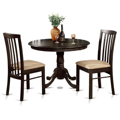 Bonenfant 3 Piece Dining Set Finish: Cappuccino