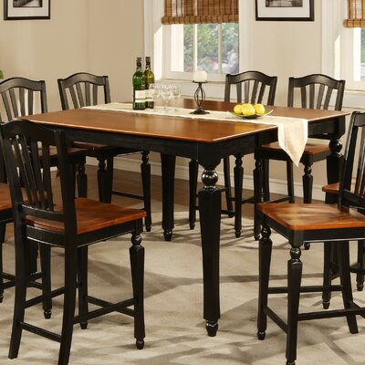 Ashworth Counter Height Pub Table Table Color: Black and Cherry