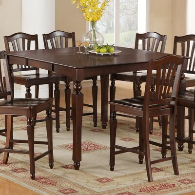 Ashworth Counter Height Pub Table Table Finish: Mahogany