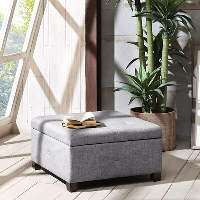 Bantom Storage Ottoman Upholstery Color: Charcoal