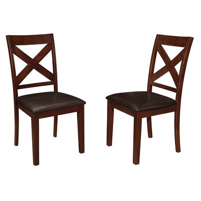 Baremeadow Genuine Leather Upholstered Dining Chair
