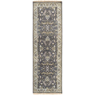 Bargamin Classic Charcoal Area Rug Rug size: Runner 26 x 8