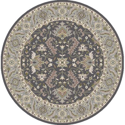 Bargamin Classic Charcoal Area Rug Rug size: Square 8