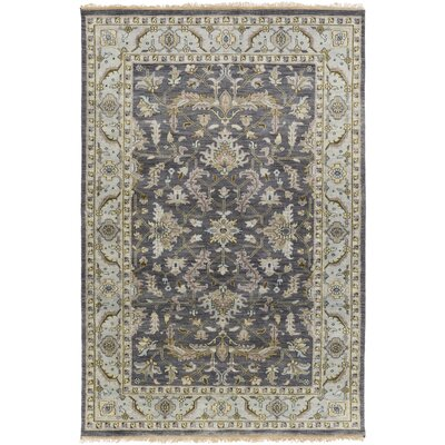 Bargamin Classic Charcoal Area Rug Rug size: Rectangle 56 x 86