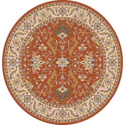Bargamin Classic Orange/Butter Rug Rug size: Square 8