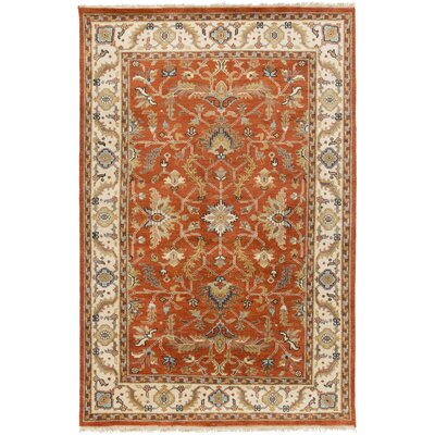 Bargamin Classic Orange/Butter Rug Rug size: Rectangle 9 x 13