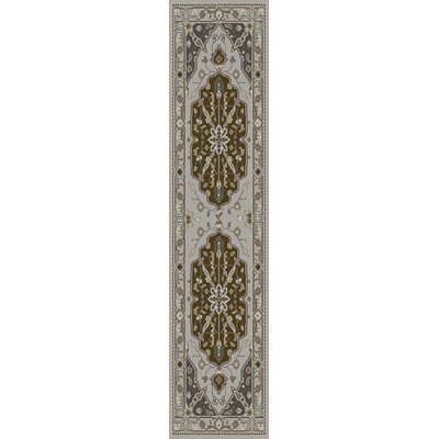 Bargamin Classic Olive/Ivory Area Rug Rug size: Runner 26 x 8