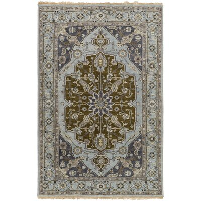 Bargamin Classic Olive/Ivory Area Rug Rug size: Rectangle 9 x 13