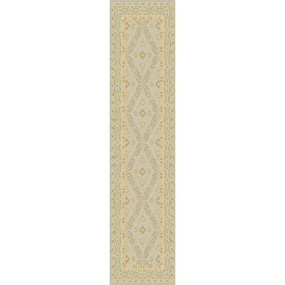 Bargamin Classic Beige/Moss Area Rug Rug size: Runner 26 x 8